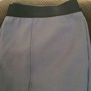 Denim & C Gray elastic waist stretch pants size 14
